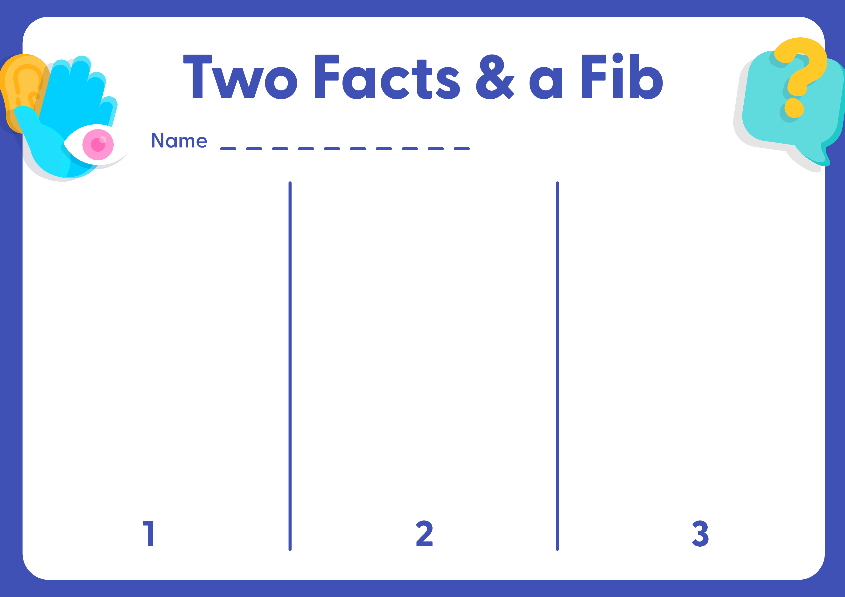 Resource sheet Two Facts & a Fib