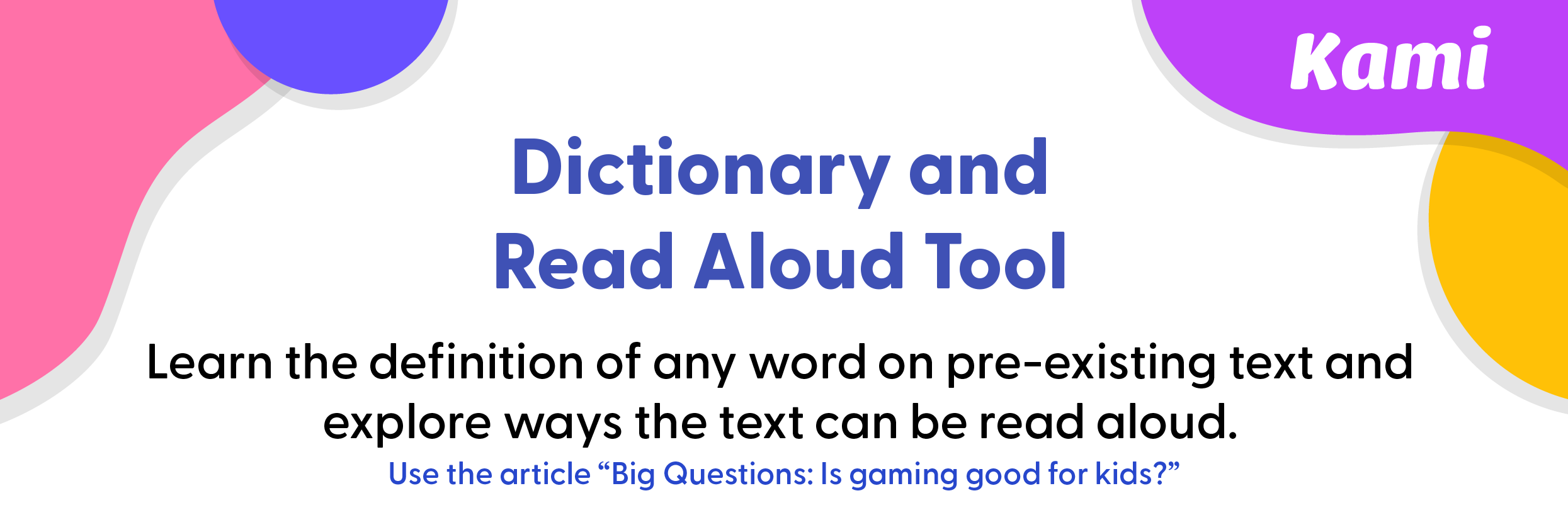 Dictionary and Read Aloud Tool Preview 1