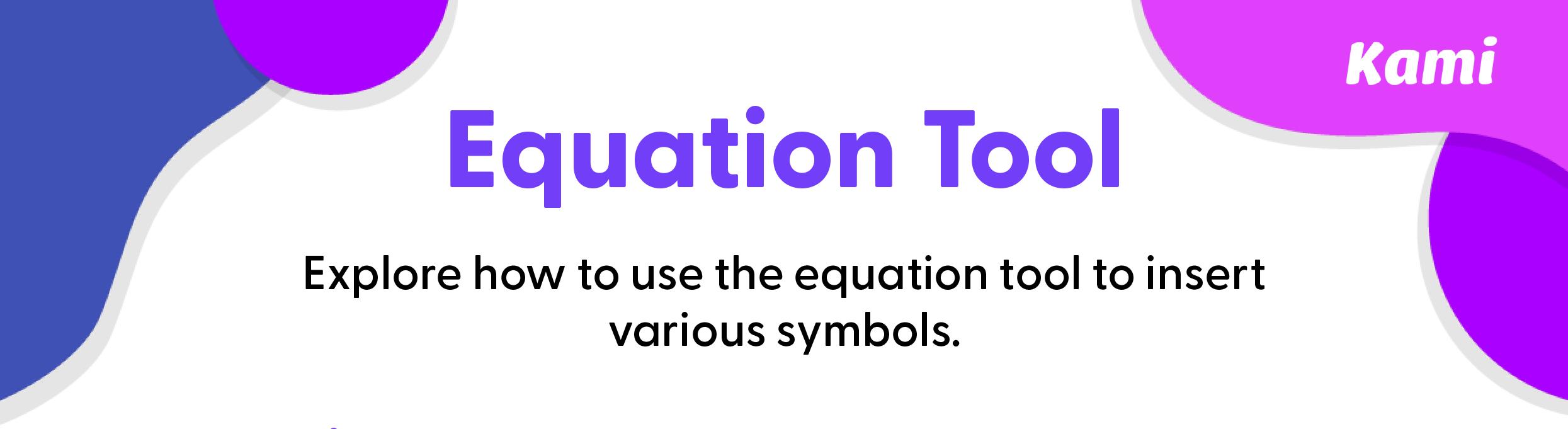 Equation tool preview 1